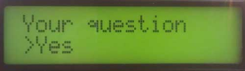 An example question on PiFace Control And Display